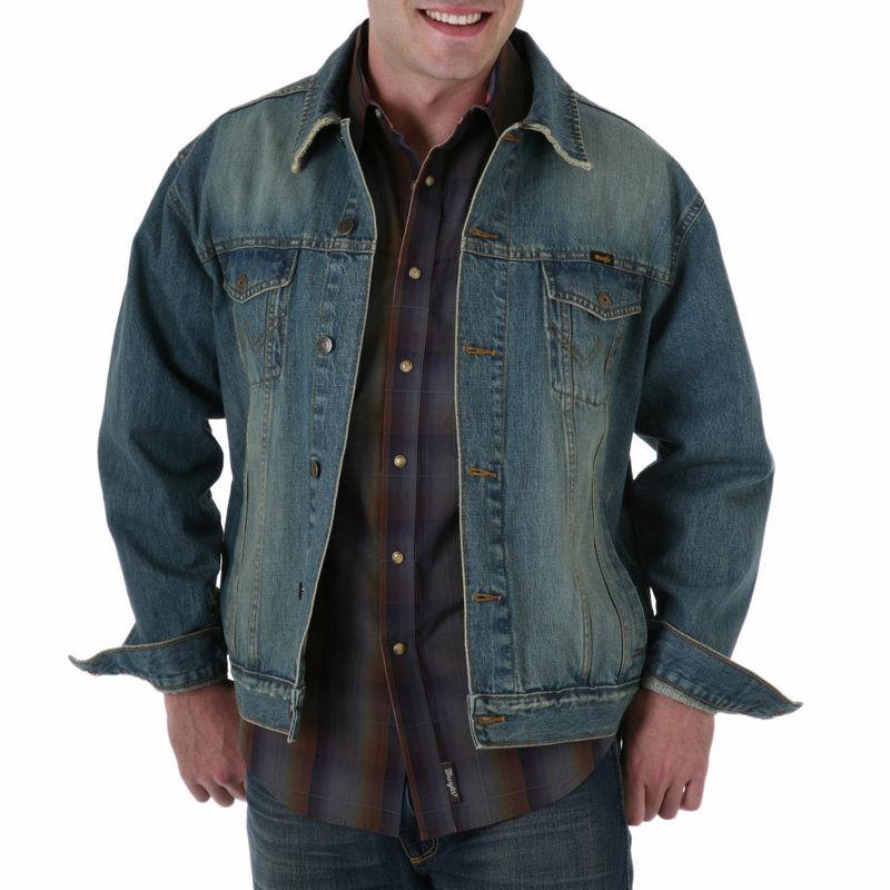 Джинсовые Куртки Вранглер Мужские Купить В